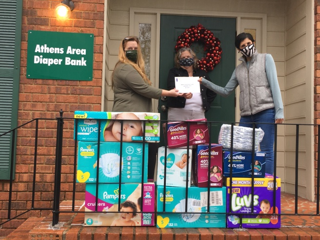 Check delivery at the Athens Area Diaper Bank